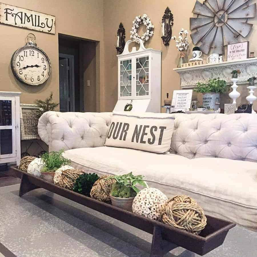 27 Rustic Farmhouse Living Room Décor Ideas for the Home