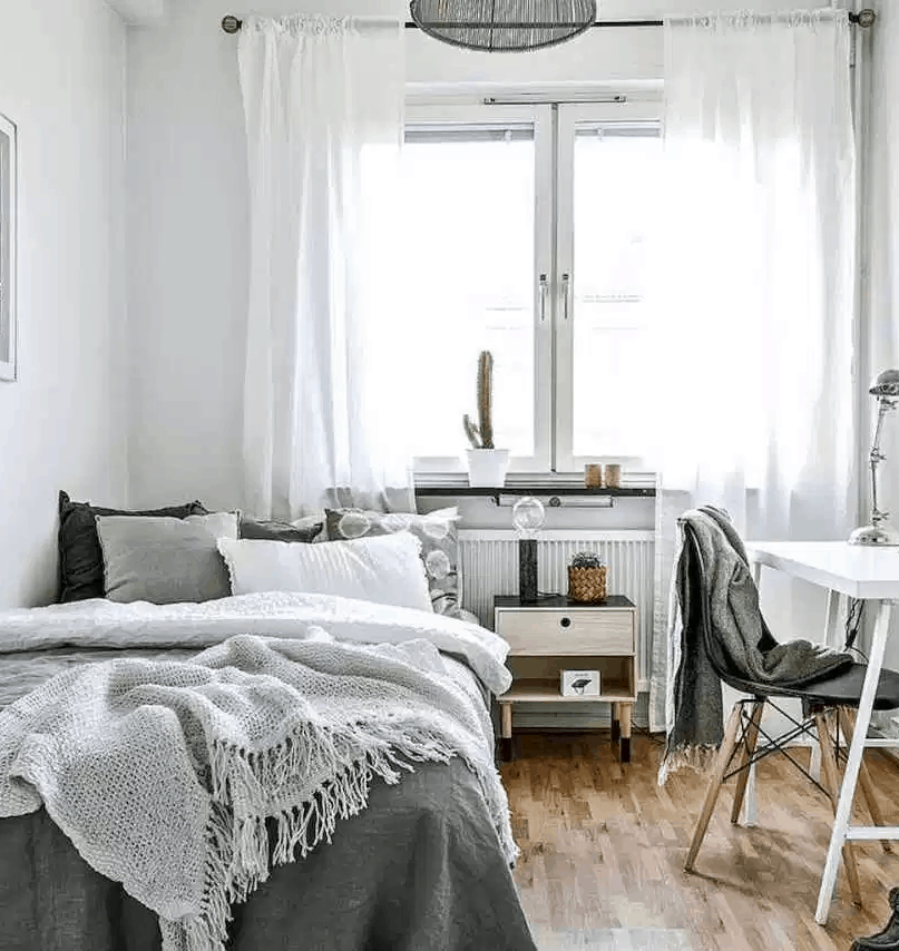 40 Minimalist Style Ideas For The Perfect Dorm Room