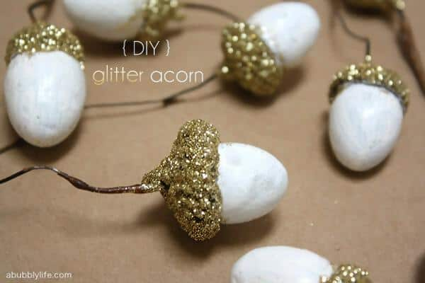 13.Fairy Lights Made of Acorns