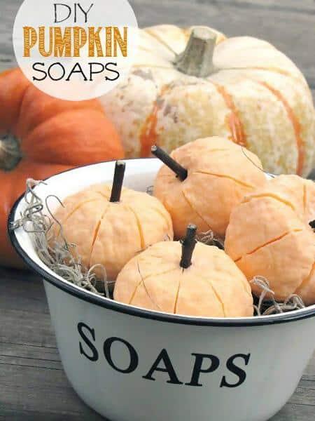 24. Create Your Pumpkin Soaps
