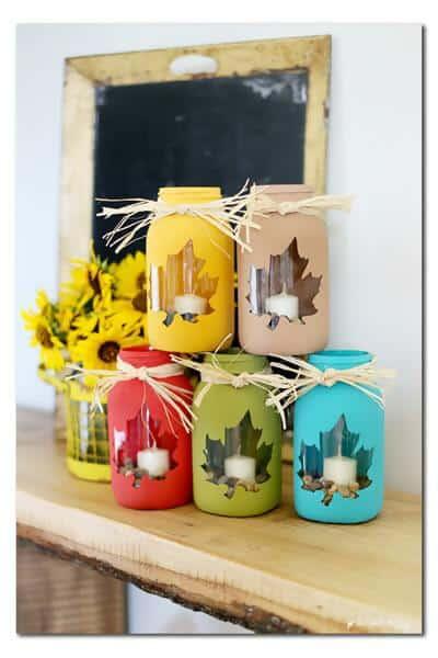 30. Peek-a-Boo Mason jar decorations