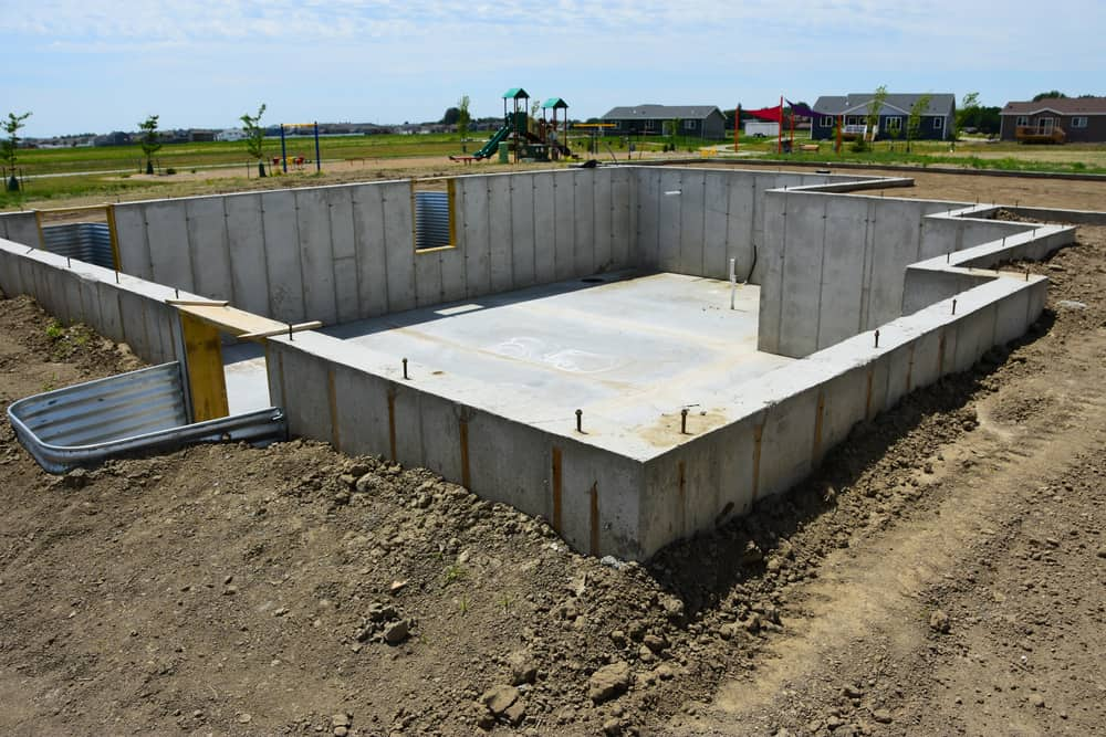 13.Rather than using wood, go for a concrete foundation.